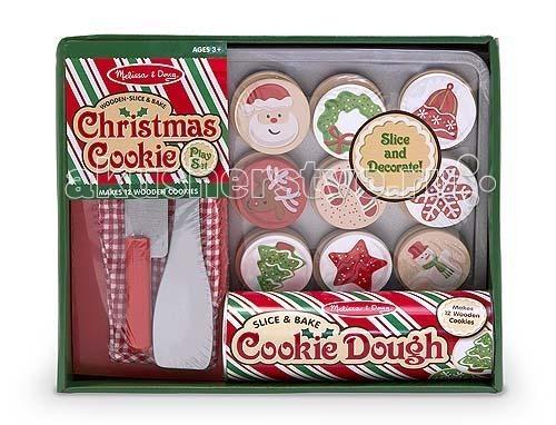 Деревянная игрушка Melissa &amp; Doug Готовь и играй Рождественские кексыГотовь и играй Рождественские кексыДеревянная игрушка Melissa & Doug Готовь и играй Рождественские кексы - Ваша малышка сможет почувствовать себя настоящей хозяйкой, ведь с этим набором так приятно подражать маме!  Нарежьте и выпеките дюжину деревянных печений и украсьте их 12 самоклеющимися съемными накладками.  В наборе: тюбик с 12 печеньями 12 декоративных начинок кухонную прихватку деревянные противень нож шпатель.<br>