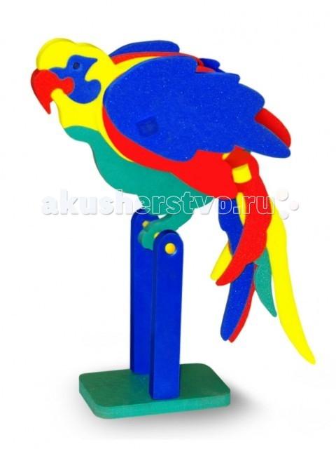 Конструктор Тедико ПопугайПопугайДетали изготовлены из мягкого полимерного материала - современного, легкого, прочного, абсолютно безопасного для ребенка. Несомненное достоинство этого материала - из него можно сделать любые детали.  Этот набор деталей позволяют собрать попугайчика. Комбинируя детали на свой вкус и фантазируя, ребенок может видоизменить и усовершенствовать предложенный вариант.  Конструктор способствует развитию и тренировке логики, пространственного восприятия и фантазии малыша.<br>