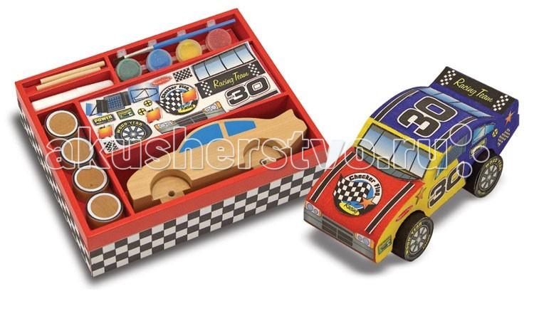 Деревянная игрушка Melissa & Doug Классические игрушки Гоночные машинки