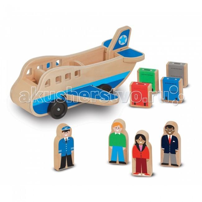 Деревянная игрушка Melissa &amp; Doug Аэроплан 9394Аэроплан 9394Деревянная игрушка Melissa & Doug Аэроплан 9394 - деревянный аэроплан с фигурками людей и багажом, обязательно приведет в восторг Вашего ребенка!  Компания Melissa&Doug придерживается самых высоких стандартов качества и безопасности детских образовательных продуктов для детей. Melissa & Doug - это один из ведущих брендов деревянных игрушек, используемые компанией покрытия и красители нетоксичны.<br>