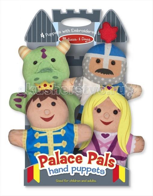 Мягкая игрушка Melissa &amp; Doug Плюшевые куклы на руку- замокПлюшевые куклы на руку- замокМягкая игрушка Melissa & Doug Плюшевые куклы на руку- замок - четыре простые перчаточные куклы -они прекрасно подходят для развития моторных навыков, зрительно-моторную координацию, коммуникативные навыки, уверенность в себе.  Компания Melissa&Doug придерживается самых высоких стандартов качества и безопасности детских образовательных продуктов для детей. Melissa & Doug - это один из ведущих брендов деревянных игрушек, используемые компанией покрытия и красители нетоксичны.<br>