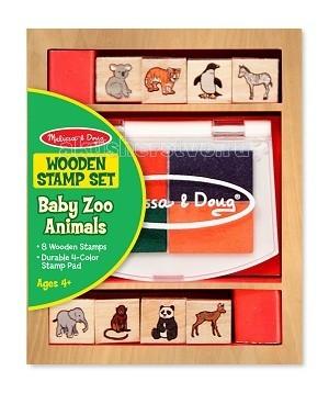Melissa &amp; Doug Набор печатей животные зоопаркаНабор печатей животные зоопаркаMelissa & Doug Набор печатей животные зоопарка - состоит из 8 разных деревянных печатей с нанесенными на них разнообразными рисунками. В набор входят губки, пропитанные нетоксичными чернилами 4х цветов.   Melissa & Doug - ведущий мировой производитель игрушек из натуральных материалов, прежде всего из дерева. Вся производимая продукция отличается надежностью, экологичностью и безопасностью для ребенка. Игрушки данной торговой марки предназначены не только для развлечения детей, а в первую очередь ориентированы на раннее развитие и обучение.<br>