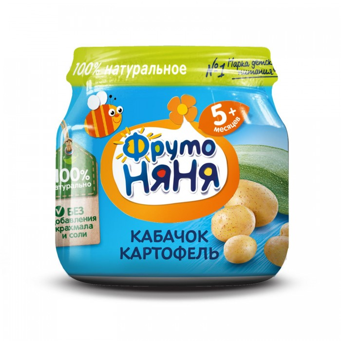 ФрутоНяня Пюре Кабачок и картофель с 5 мес. 80 г