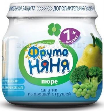 ФрутоНяня Пюре Салатик из овощей с грушей с 7 мес. 80 г