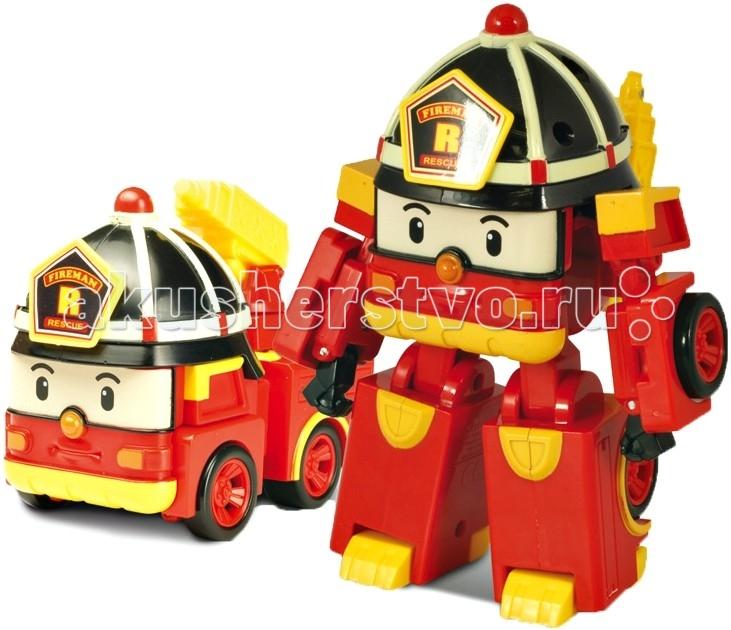 Robocar Poli Пожарная машина Рой трансформер 7,5 смПожарная машина Рой трансформер 7,5 смГородок Брумстаун населяют необычные машинки, каждая из которых занята своим делом: кто-то охраняет жителей, кто-то их вылечивает. А вот Поли, один из членов этой команды, тушит пожары.  Яркий красивый робот с пожарной каской на голове всегда спешит на помощь, он смелый и ответственный, является самым сильным членом команды спасателей.  Конструкторы позволяют ребенку при желании поменять одну игрушку на другую и реализовать множество игр.  Трансформеры всегда приходят вовремя, чтобы помочь в беде жителям и гостям городка Брумс.  Рой - самый сильный из команды, поэтому он всегда появляется там, где нужна смелость и поддержка. Игрушка выполнена как трансформер, поэтому в отличие от привычных машинок, она не наскучит ребенку. Потому что в любой момент он сможет превратить её в храброго робота-человечка Поли и игра приобретет новый сюжет.  Когда игрушка находится в состоянии робота, то у неё можно двигать конечности, когда в виде машинки, то у неё двигается пожарный кран.  За счет небольшого размера её всегда можно взять с собой. Такая игрушка без сомнений привнесет в процесс игры творчество, позволит улучшить координацию движений. Трансформер изготовлен из качественных и безопасных материалов, поэтому не окажет вредного воздействия на ребенка. Продукция сертифицирована, экологически безопасна для ребенка, использованные красители не токсичны и гипоаллергенны. Вес: 0,13 кг. Размер упаковки: 0,11х0,08х0,14<br>