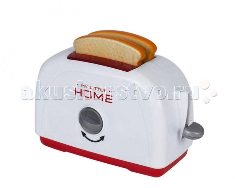 Simba Тостер My Little HomeТостер My Little HomeТостер Simba My Little Home - это отличный выбор для девочки, который дополнит набор детской бытовой техники.   Уменьшенная копия кухонного устройства работает совсем, как настоящий тостер: стоит засунуть внутрь кусочки хлеба, идущие в комплекте, и повернуть ручку, как, вуаля, наивкуснейшие тосты готовы!<br>