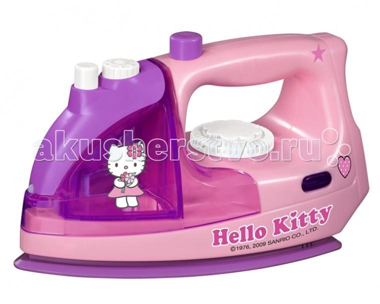 Simba Утюг Hello KittyУтюг Hello KittyУтюг Simba Hello Kitty - это отличный выбор для девочки, который дополнит набор детской бытовой техники.   Маленькие девочки любят наблюдать, как их мама работает по дому. Вручите ей небольшой детский утюг, чтобы девочка могла гладить одежду вместе с мамой.    Особенности:    В утюг заливается водичка. Затем нажимается кнопку, и игрушка начинает шипеть, нагреваться и издавать пар.  Звуковые и световые эффекты приведут в восторг вашего ребенка.   Для работы игрушки потребуются 2 батарейки AA (нет в комплекте).  Утюг выполнен в приятных розовых и фиолетовых тонах из гипоаллергенного пластика.   На корпусе вы увидите изображение Минни Маус.   Такая игрушка научит вашу дочку быть настоящей хозяйкой.<br>