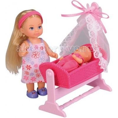 Simba Кукла Еви с пупсом в кроватке