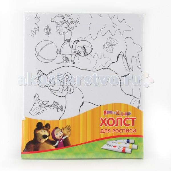 Раскраска Играем вместе Холст Для Росписи Маша И Медведь 2530-8 (48)