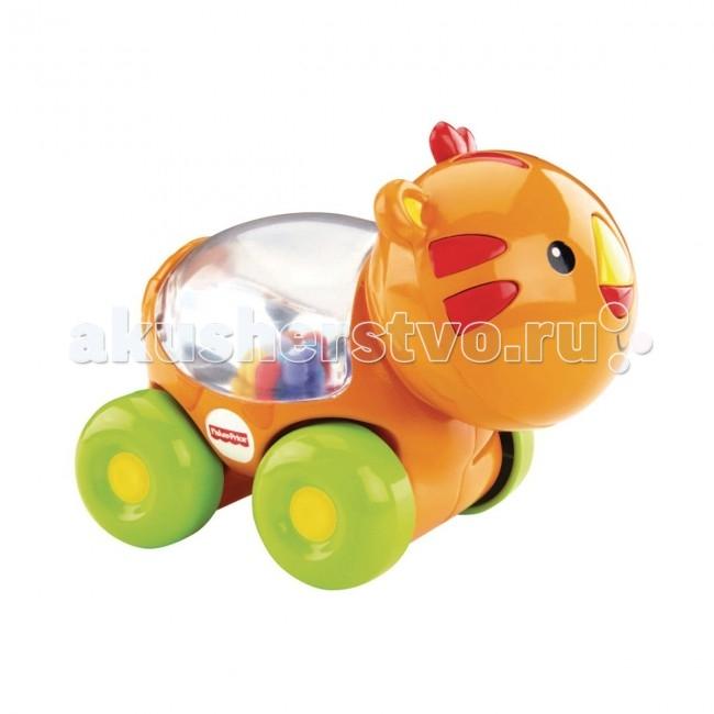 Развивающая игрушка Fisher Price Веселый ТигрВеселый ТигрУвлекательная игра с подпрыгивающими шариками и звуками поощряет малыша к подталкиванию игрушки и ползанию, что развивает навыки общей моторики.   Малыш толкает тигра, чтобы шарики начали весело подпрыгивать, постигая при этом причинно-следственные связи.   Яркие прыгающие шарики, блестящие отражения и веселые звуки закрепляют развивающиеся навыки малыша. Игрушка способствует развитию у ребенка координации, внимания, слуха и крупной моторики.<br>