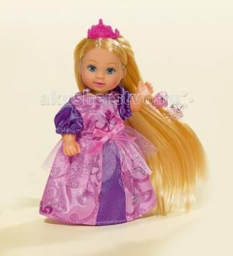 Simba Еви с аксессуарами для волосЕви с аксессуарами для волосКукла Еви Simba с аксессуарами для волос - милая куколка с длинными волосами, которые можно расчесывать, создавая разнообразные причёски непременно понравится вашей малышке.   Еви очень любит наряжаться в разнообразные костюмы и платья. Сегодня она играет роль принцессы. Куколка одета в красивое вечернее платье. В наборе вместе с куклой идут аксессуары, к примеру, заколки, зеркало и другие, а также колечко для девочки.   Особенности:    Кукла сделана из высококачественного пластика  Руки и ноги куколки подвижны, куколку можно сажать  Волосы Еви можно расчесывать, делать различные прически  Вся одежда легко снимается, куколку можно переодевать  Благодаря своей компактности, ее можно брать в дальнее путешествие  Играя с куклой, ваша девочка придумает множество сюжетно-ролевых игр  В игре будут развиваться творческие способности, фантазия, воображение и артистические навыки, а также внимательность, мелкая моторика и координация движения рук   Размер куклы: 12 см  Внимание! Кукла в ассортименте!<br>