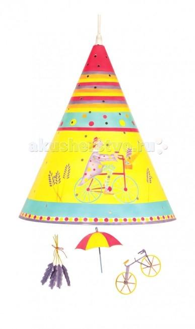 Светильник L'oiseau Bateau потолочный Велосипедисткапотолочный ВелосипедисткаПотолочный светильник Велосипедистка станет прекрасным украшением детской комнаты.   Каждая деталь выполнена французскими ремесленниками вручную.  Размер: 35 см В х 28 см Д  Материал: металл (сталь).  В комплект светильника входят лампы E27 – 60 Вт.<br>