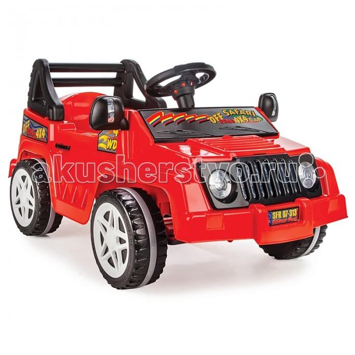 Pilsan Педальная машина New SafariПедальная машина New SafariПедальная машина Pilsan New Safari представляет собой устойчивый четырехколесный транспорт в форме внедорожника с прямым педальным приводом и рулевым управлением. Педальный автомобиль оснащен клаксоном.   Зеркала заднего вида могут быть отрегулированы.  Педальный автомобиль Pilsan Safari способствует развитию опорно двигательного аппарата ребенка, укреплению суставов и координации в пространстве.<br>