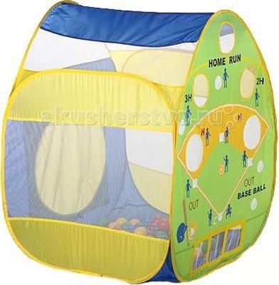 Calida Палатка-домик Бейсбол 100 шаровПалатка-домик Бейсбол 100 шаровЧудесную красочную палатку Calida Бейсбол можно установить дома, на даче или прямо в саду. В зависимости от размера в нем могут играть один или несколько деток. В игре с шариками развивается координация движений, общая моторика и ловкость.  Размеры: 84х86х107 см.<br>