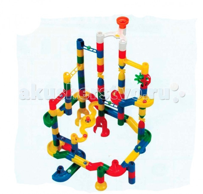 Конструктор Tototoys RolliBlock 922 (120 деталей)RolliBlock 922 (120 деталей)Tototoys Конструктор RolliBlock - первый шаг ребенка в мир конструирования объемных лабиринтов. В данном комплекте разноцветные пластиковые детали (дорожки-переходники, водоворот, вертикальные трубки и др.) и стеклянные шарики. Конструирование лабиринтов полезно для развития пространственного мышления и воображения.  Многофункциональные, комбинируемые конструкторы для малышей состоят из набора ярких, разноцветных узлов для сборки увлекательных лабиринтов. Игроки запускают стеклянные, разноцветные шарики, направляя их на различные этапы лабиринтов. Широкий выбор, хорошее качество, безопасное и оригинальное оформление игрушек помогают в развитии интеллектуальных, психических и физических способностей ребенка.   Игра с Tototoys развивает пространственное мышление, воображение, мелкую моторику рук, а также дает представление о физических свойствах шара и законе всемирного тяготения.  102 детали, 10 радужных шара диаметром 1,5 см.   Инструкция по сборке из фигурного картона на липучке.<br>