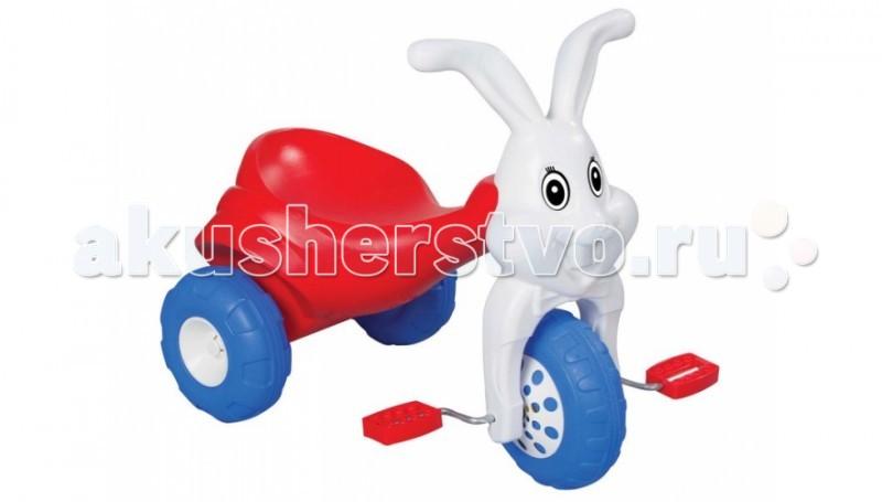 Велосипед трехколесный Pilsan Rabbit ЗаяцRabbit ЗаяцВелосипед трехколесный Pilsan Rabbit Заяц - с педалями на переднем колесе. Руль выполнен в форме головы кролика.   Глубокое сиденье создает необходимые уровень комфорта ребенка и не позволяет ему случайно упасть.   Велосипед лучше всего подходит для коротких прогулок с ребенком на детской площадке и во дворе дома.  Способствует развитию опорно двигательного аппарата ребенка, укреплению суставов и координации в пространстве.  Максимальный вес ребенка не должен превышать 50 кг.<br>