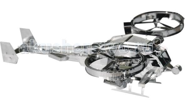 Конструктор Tucool Мини 3D паззл из металла Вертолёт АватарМини 3D паззл из металла Вертолёт АватарСборная модель из металла Tucool Вертолёт Аватар привлечет внимание не только ребенка, но и взрослого и позволит своими руками создать уменьшенную копию вертолёта Аватар.  Моделистов приятно удивит уровень деталировки модели! Все детали соединяются с помощью усиков, которые вставляются в соответствующие прорези.  Собранная модель станет красивым дополнением к вашему домашнему интерьеру или оригинальным подарком для друзей и близких!  Сборные модели развивают интеллектуальные и инструментальные способности, воображение и конструктивное мышление. Прививают практические навыки работы со схемами и чертежами.  Материал: металл. Размеры (в собранном виде) ДхШхВ: 12х8х3.5 см<br>