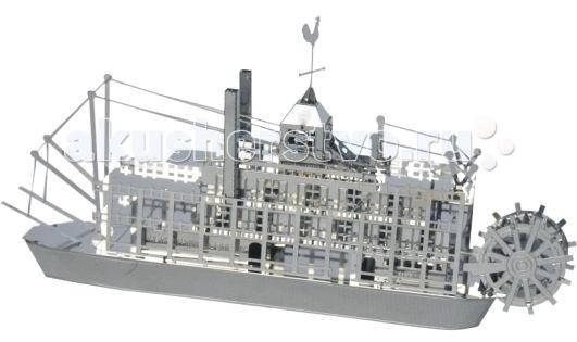 Конструктор Tucool Мини 3D паззл из металла ТеплоходМини 3D паззл из металла ТеплоходСборная модель из металла Tucool Теплоход привлечет внимание не только ребенка, но и взрослого и позволит своими руками создать уменьшенную копию настоящего теплохода.  Моделистов приятно удивит уровень деталировки модели! Все детали соединяются с помощью усиков, которые вставляются в соответствующие прорези.  Собранная модель станет красивым дополнением к вашему домашнему интерьеру или оригинальным подарком для друзей и близких!  Сборные модели развивают интеллектуальные и инструментальные способности, воображение и конструктивное мышление. Прививают практические навыки работы со схемами и чертежами.  Материал: металл. Размеры (в собранном виде) ДхШхВ: 8.5х4х4 см<br>