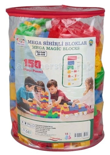 Конструктор Pilsan Mega Magic Blocks (150 деталей)