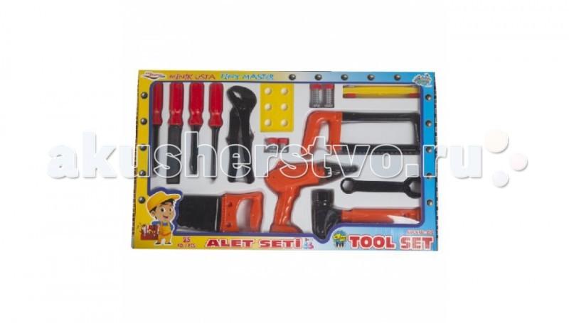 Pilsan Набор Инструментов Tool Set в коробкеНабор Инструментов Tool Set в коробкеPilsan Набор Инструментов Tool Set в коробке из 14 предметов предназначен для игры детей от 3-х лет.   Маленькие мужчины очень любят выкручивать болты, играть с молотком, изображая хозяйственного папу.   В ящике для инструментов помещается все - и разводной ключ, которым ребенок сможет играть, пытаясь открутить большие гайки, и отвертка, позволяющая играть с шурупами.  Игровые наборы инструментов позволят малышу почувствовать себя взрослым мужчиной и настоящим мастером. Он даст возможность ознакомиться с главными инструментами, необходимыми при ремонтных работах.   Играя таким набором, ребенок учится помогать своему папе и изучает основной комплект инструментов, а так же начинает понимать, для чего они необходимы.  Закручивая винтики, малыш развивает мелкую моторику и логическое мышление.<br>