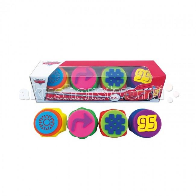 Multiart Disney тачки Пальчиковые краски с печатями 4 цвета
