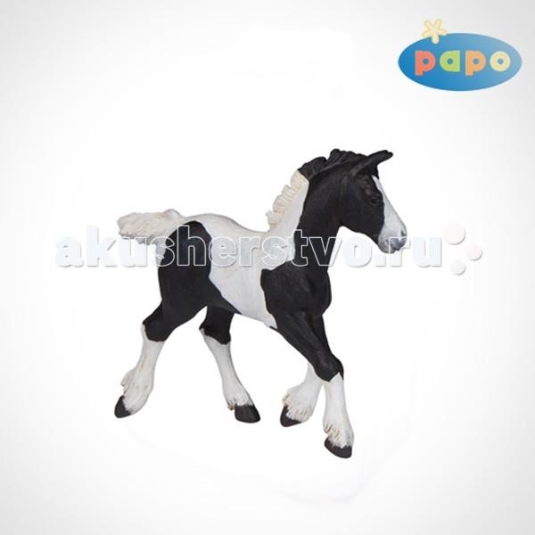 Papo Игровая реалистичная фигурка Черный жеребёнок Коба