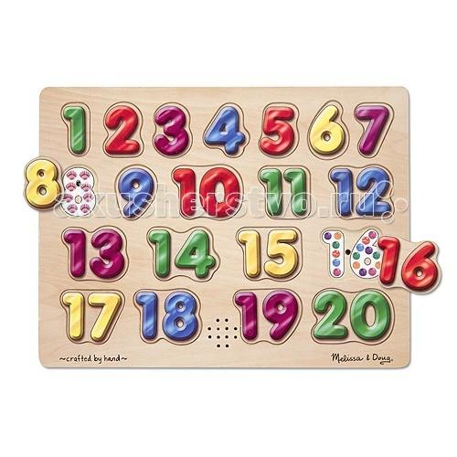 Деревянная игрушка Melissa & Doug Звуковые пазлы, цифры