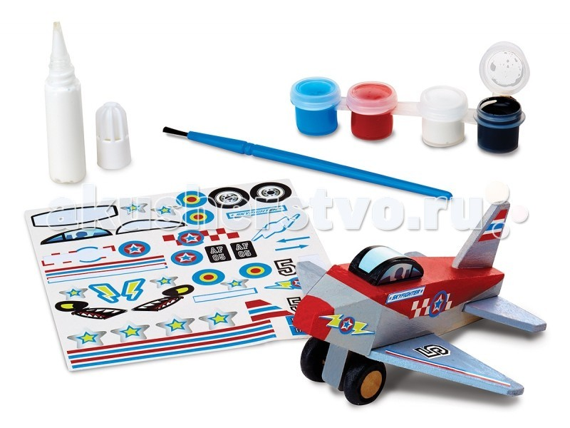 Деревянная игрушка Melissa & Doug Деревянный мир Самолет