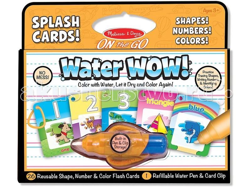 Раскраска Melissa & Doug Раскрась водой карточки, формы, числа и цвета Раскрась водой карточки, формы, числа и цвета 5237