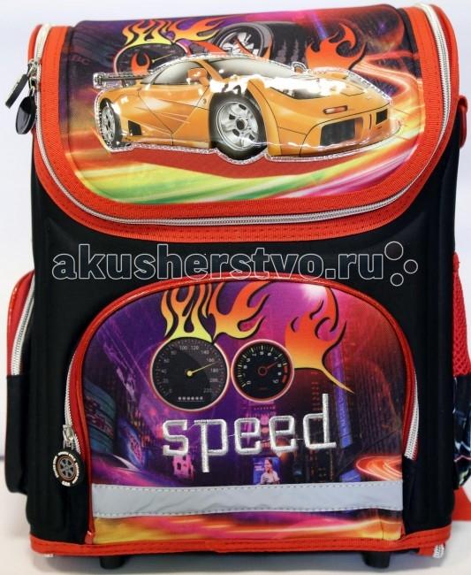 Игралия Ортопедический ранец-рюкзак SpeedОртопедический ранец-рюкзак SpeedИгралия Ортопедический ранец-рюкзак Speed изготовлен из высококачественных, нетоксичных, эталонных материалов, очень прочный и надежный, а также совершенно безопасен для ребенка!  Особенности: ортопедическая EVA-спинка рюкзака служит для предупреждения нарушения осанки имеет легкий вес(менее 800 г), при этом держит форму, жесткий каркас при необходимости молния расстегивается полностью внутри 2 отделения для учебников и тетрадей и 3 внешних отделения: - передний карман на молнии - боковой карман на липучке - боковой карман - эластичная сетка для бутылки эффектная, спокойная, немаркая элегантная расцветка изготовлено из непромокаемого материала, легко чистится и моется<br>