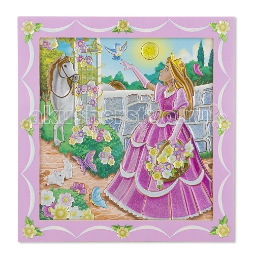 Раскраска Melissa &amp; Doug по номерам Принцесса в садупо номерам Принцесса в садуРаскраски Melissa & Doug по номерам Принцесса в саду - сверкающие наклейки по номерам, Ваша малышка будет в восторге от такого подарка.  Компания Melissa & Doug придерживается самых высоких стандартов качества и безопасности детских образовательных продуктов для детей. Melissa & Doug - это один из ведущих брендов деревянных игрушек, используемые компанией покрытия и красители нетоксичны.<br>