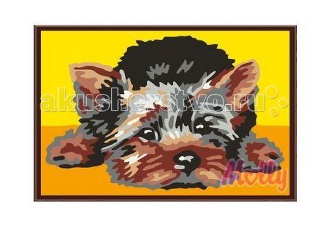 Molly Картина по номерам Лохматый щенок 20х30 см