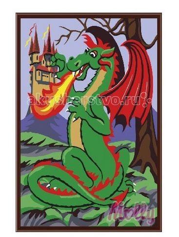 Раскраска Molly Картина по номерам Змей горыныч 20х30 см