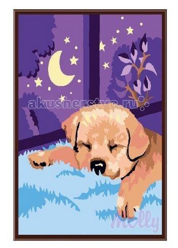 Molly Картина по номерам Спокойной ночи 20х30 смКартина по номерам Спокойной ночи 20х30 смРаскраска по номерам Molly Спокойной ночи 12 цветов - оригинальный набор, позволяющий создать первую картину, благодаря поэтапной раскраске полотна   В наборе:    холст из натурального хлопка на деревянном подрамнике (холст предварительно прогрунтован);  нейлоновые кисти разного размера 3 шт.;  акриловые краски (устойчивые к выцветанию);  крепление на стену.   Размер: 20 х 30 см Количество цветов: 12 Уровень сложности: легкий<br>