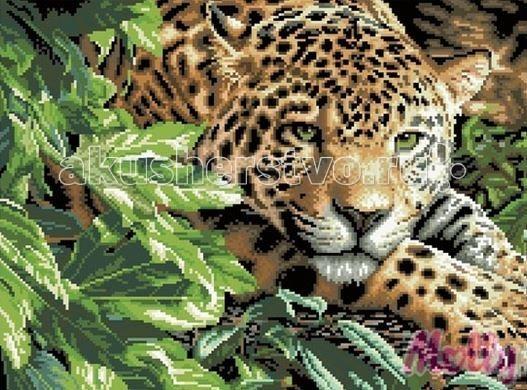 Molly Мозаичная картина Мечтательный леопард 40х50 см