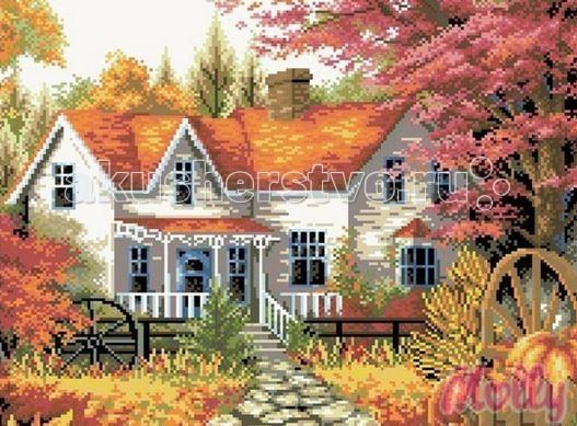 Molly Мозаичная картина Сельский дом 40х50 см