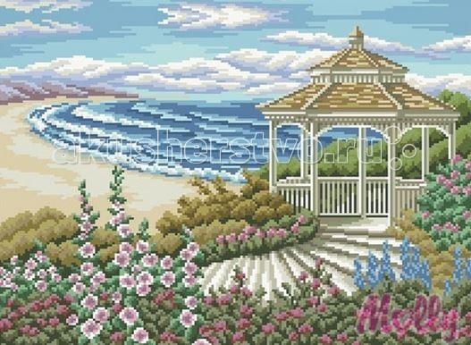 Molly Мозаичная картина Беседка у моря 40х50 см