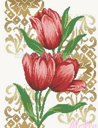 Molly Мозаичная картина Тюльпаны 40х50 см
