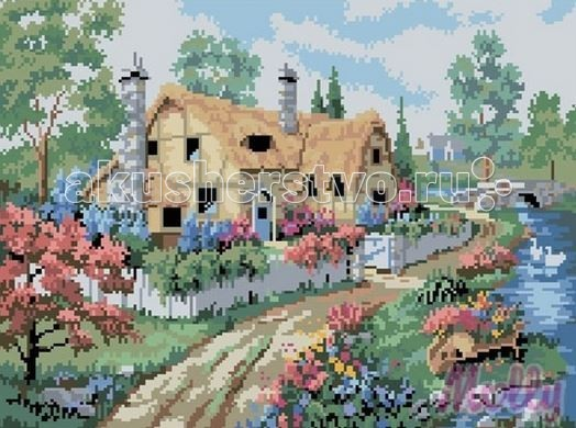 Molly Мозаичная картина Дом на берегу 40х50 см