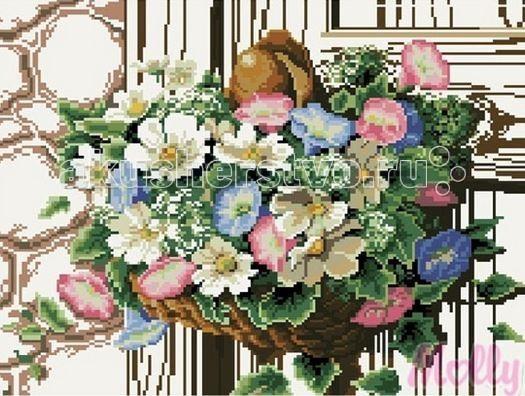 Molly Мозаичная картина Ампельные цветы 40х50 смМозаичная картина Ампельные цветы 40х50 смМозаичная картина Molly Ампельные цветы 29 цветов - оригинальный набор, позволяющий создать первую картину, благодаря поэтапной выкладке мозаикой полотна.    В наборе:    Тканевый холст с клеевым слоем и с нанесенной схемой рисунка;  Металлический пинцет;  Пластиковый контейнер для элементов мозаики;  Специальный карандаш;  Клей-липучка для карандаша;  Комплект разноцветных мозаичных элементов диаметром 2,5 мм;   Размер: 40 х 50 см Количество цветов: 29 Уровень сложности: трудный<br>