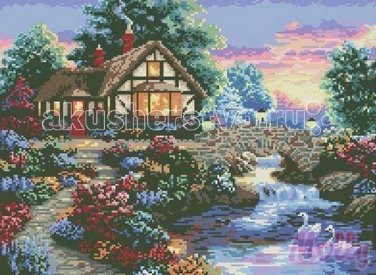 Molly Мозаичная картина Загородный домик 40х50 смМозаичная картина Загородный домик 40х50 смМозаичная картина Molly Загородный домик 35 цветов - оригинальный набор, позволяющий создать первую картину, благодаря поэтапной выкладке мозаикой полотна.    В наборе:    Тканевый холст с клеевым слоем и с нанесенной схемой рисунка;  Металлический пинцет;  Пластиковый контейнер для элементов мозаики;  Специальный карандаш;  Клей-липучка для карандаша;  Комплект разноцветных мозаичных элементов диаметром 2,5 мм;   Размер: 40 х 50 см Количество цветов: 35 Уровень сложности: сложный<br>