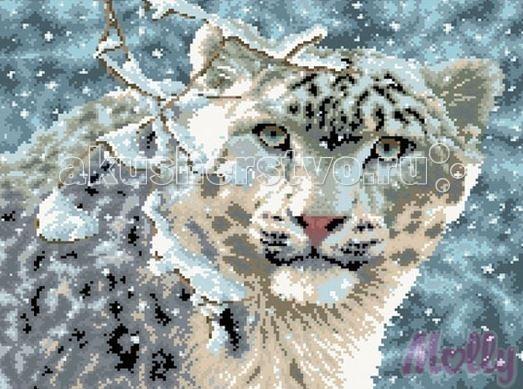 Molly Мозаичная картина Снежный барс 40х50 см