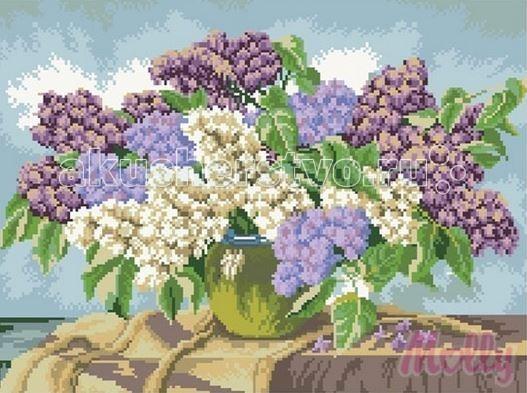 Molly Мозаичная картина Махровая сирень 40х50 см