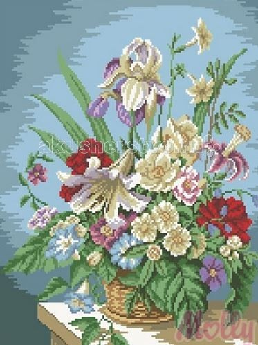 Molly Мозаичная картина Цветочная композиция 40х50 см