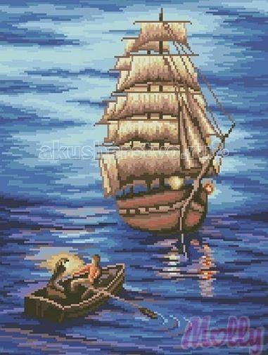 Molly Мозаичная картина Под парусами 40х50 см