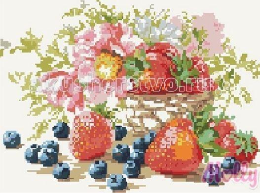 Molly Мозаичная картина Ягодный натюрморт 40х50 см