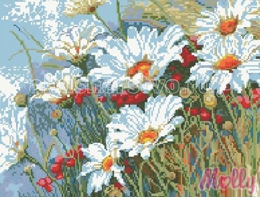 Molly Мозаичная картина Ромашковая поляна 40х50 см