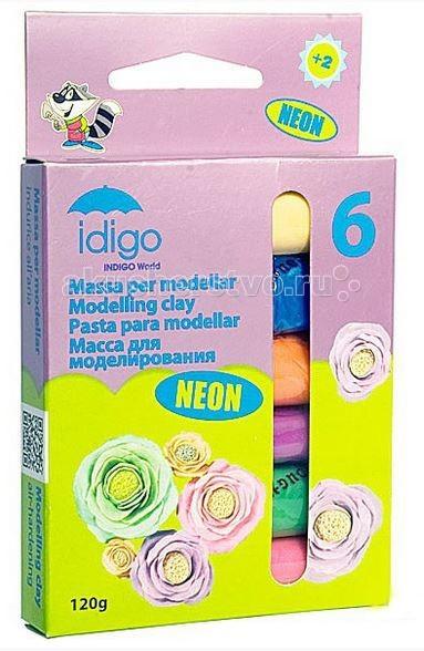 Idigo Масса для моделирования 6 цветов 120 г