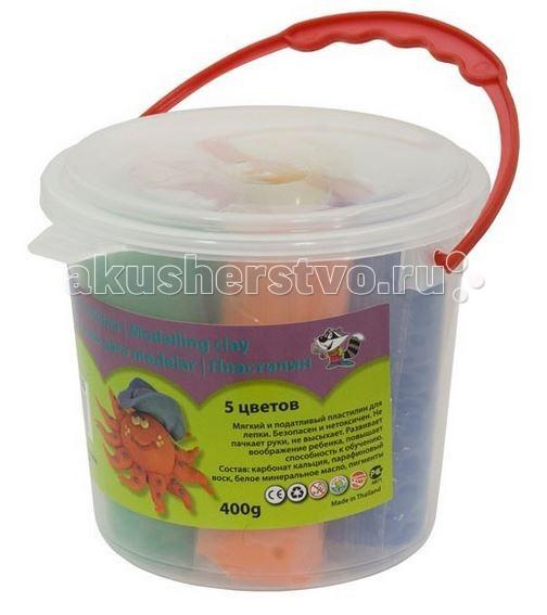 Idigo Набор пластилина в ведерке 5 цветов 400 г