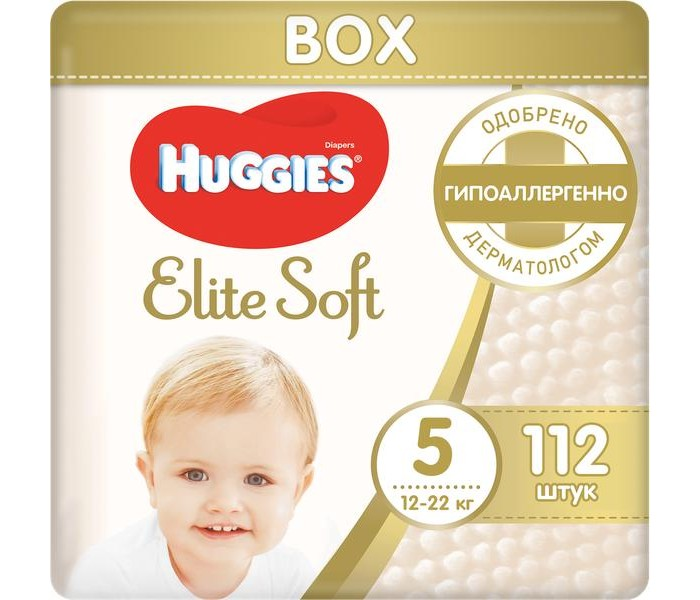 Huggies ���������� Elite Soft 5 (12-22 ��) 112 ��.